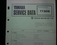 1974-75 Yamaha TY80 B, TY80B Service Data specification booklet, Workshop manual