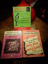 Roman Policier LE SAINT Détèctive Magazine Ellery Queen Mystère Maurice Renault