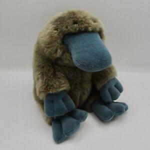 """Gund Platypus Webber 9"""" plush 1992 stuffed animal vintage duck billed gray blue"""