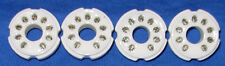 Four New Ceramic 9 pin Compactron PC Mount Vacuum Tube Sockets