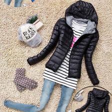Womens Short Light Coat Hooded Down Overcoat Jacket Warm Winter Outwear Parka