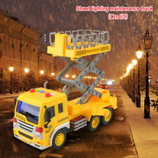 Friction Powered Large Lift Bucket Diecast Toys Picker Lift Truck Toy Car Crane