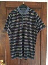 MENS DUCK & COVER STRIPED SHORT SLEEVE POLO SHIRT SIZE XL-NEW