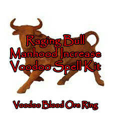 Voodoo Penis Ring Raging Bull Papa Crow Blood Ore Manhood Spell Kit Complete