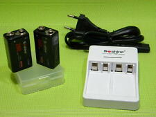 True 9.6V NiMH precharged battery x2 low self discharge + 2-channel fast charger