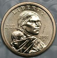 2001 P Sacagawea Dollar Choice BU Condition US Coin