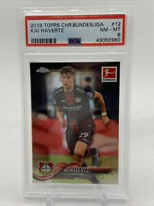 2018 Topps Chrome Bundesliga Kai Havertz #12 Rookie Card RC PSA 8 - Chelsea