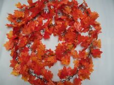 HUGE11FT! Autumn Maple Leaf CHAINLINK ORANGE Garland/DECORATION /DISPLAY/WEDDING