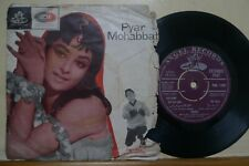 "1st Pub.1966 Hindustani Bollywood ANGEL Record【Kalyanji A.】Pyar Mohabbat 7"" EP"