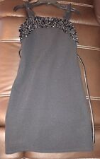 Sweet Heart Rose Black Ruffle Dress; Girl's Size 14 **NEW**