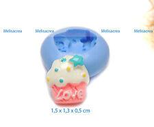 Moule Silicone Mini cup cake 1 - fimo, résine, plâtre, porcelaine froide