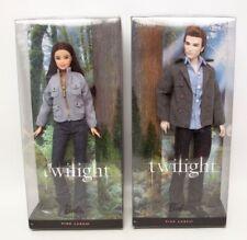 Twilight Set Bella and Edward Barbie Dolls Pink Label Mattel 2009