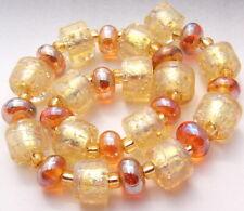 "Sistersbeads ""O-White Gold"" Handmade Lampwork Beads"