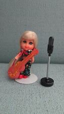 Liddle Kiddles Beat A Diddle Doll Set Red Shoes Guitar Replica Microphone Stand