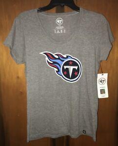 NWT Tennessee Titans '47 Brand NFL Womens Scoop neck TShirt. Sz Medium & Gray.