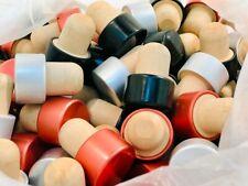 100 tappi sintetici a fungo argento, rame, nero