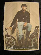 Vintage The Monkees Raybert Trading Card 1967 38 A Michael Nesmith Unicycle TV