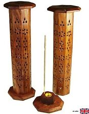Hexagonal Incense Tower Wood - perfect for Insense Burner Ash Catcher