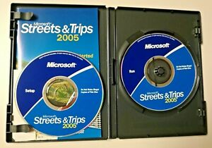 Microsoft Streets & Trips 2005 CD Software 2 Discs & Booklet Travel Map Software