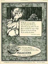 Publicité ancienne produit de beauté Malacéïne 1925 issue de magazine