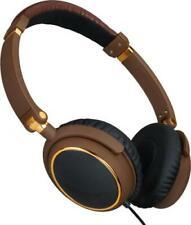 iGo 48003960 Memphis Ear Headphones In-Line Microphone Skype Adapter Brown, Gold