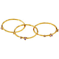 Gorjana Cleo Ring Set Of 3 Size 7 Gold 1953017233G