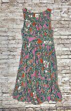 Anthropologie Seaglass Keyhole Chemise LARGE Lilka Women's Paisley Jersey Dress