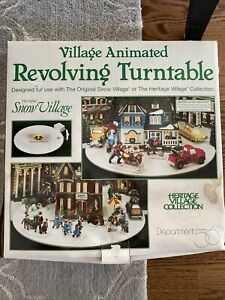 Vintage Dept 56 The Original Snow Village Animated Revolving Turntable