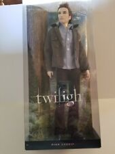 Twilight Edward Doll Barbie Collector Pink Label 2009 With Stand NRFB
