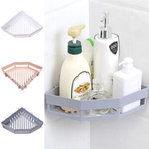 Bathroom Corner Shelf Adhesive Storage Rack Shampoo Shower Basket Holder Supply