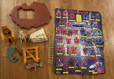 Vintage action Figure Lot He-man MOTU Castle Grayskull Parts Poster Battle Bones