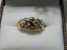 10KT GOLD PUZZLE RING BAND
