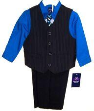 Jonathon Strong Boys 4 Pc Suit  Vest Pants Shirt & Tie NWT Sz 24M  Blue Shirt