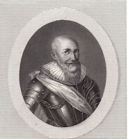 Portrait XIXe Maximilien de Béthune duc de Sully Rosny-sur-Seine 1822