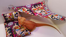 Bearded Dragon wonder woman bed-pillow, hammock Set small animal lizard reptile