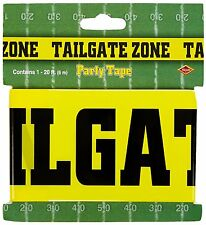 Tailgate Zone Party Tape Football Party Decoration