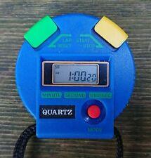 Quartz Stoppuhr Sportuhr blau mit Funktion batteriebetrieben 90er Jahre