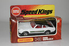 MATCHBOX SUPER SPEED KINGS #K-59 FORD CAPRI MKII, WHITE, EXCELLENT, BOXED