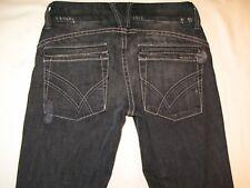 William Rast Jeans Savoy Low Skinny Black Distressed w Stretch Sz 23