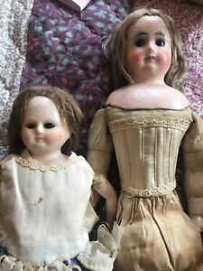 Two Antique Wax Dolls