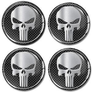 4 x Punisher Schädel Silikon Aufkleber für Nabendeckel Felgendeckel Nabenkappen