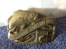 """Super Cool BASS ANGLERS SPORTSMAN SOCIETY Belt Buckle 3"""" X 2"""" COOL MUST HAVE"""