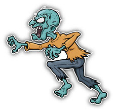 "Angry Monster Run Zombie Car Bumper Sticker Decal 5"" x 5"""