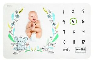 Baby Monthly Milestone Blanket For Girl Boy Newborn Photo Prop Background Mat