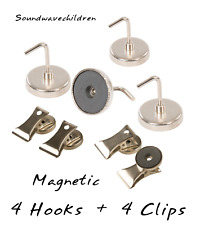 Fridge Toolbox Office Cabinet Magnetic Note Hang Hooks & Clips 35 mm / Pack of 8