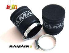 2x RAMAIR Moto - Scooter - Rendimiento Carreras Espuma Vaina Filtro De Aire 43mm