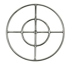 "FR18: 18"" MARINE GRADE 316 STAINLESS STEEL DOUBLE FIRE RING GAS FIRE PIT BURNER"