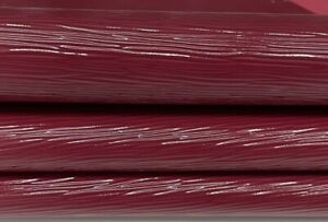 WINE RED EPI LV textured shiny strong Goatskin leather 2 skins 6sqf 0.7mm #A7461