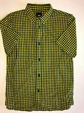 Vans New Holbrook Short Sleeve Button Down Shirt Boy's Size Youth Medium