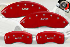 2007-2011 Mercedes Benz S550 Base Red Front + Rear MGP Brake Disc Caliper Covers